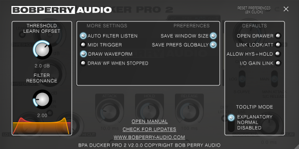 Bob Perry Ducker Pro 2 Settings