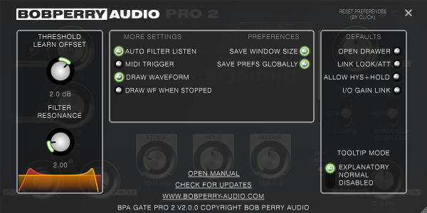 Bob Perry Gate Pro 2 Settings